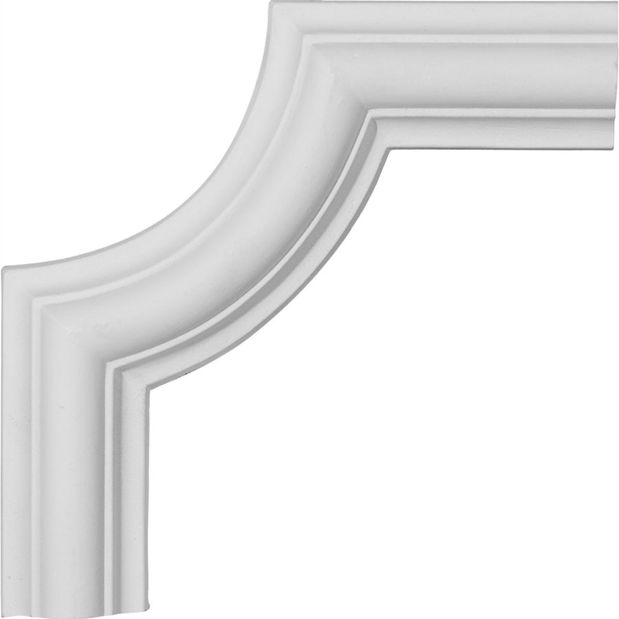 Ekena Millwork 6.125-in x 0.51-ft Primed Polyurethane Corner Panel Picture Frame Moulding
