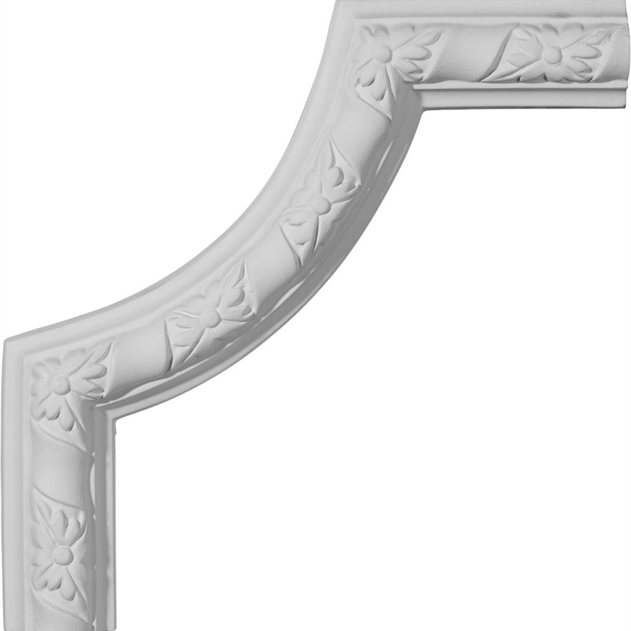 Ekena Millwork 9-in x 0.75-ft Primed Polyurethane Corner Panel Picture Frame Moulding