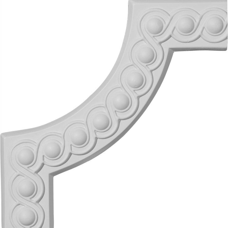 Ekena Millwork 10.25-in x 0.85-ft Primed Polyurethane Corner Panel Picture Frame Moulding