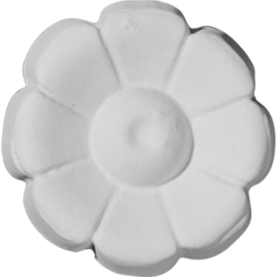 Ekena Millwork Flower 2.5-in x 2.5-in Round Primed Polyurethane Rosette