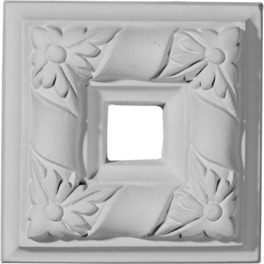 Ekena Millwork Kendall 4-in x 4-in Square Primed Polyurethane Rosette