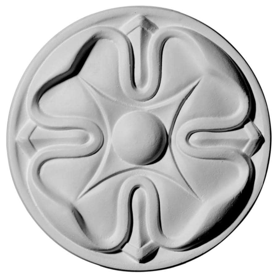 Ekena Millwork Flower 5-in x 5-in Round Primed Polyurethane Rosette