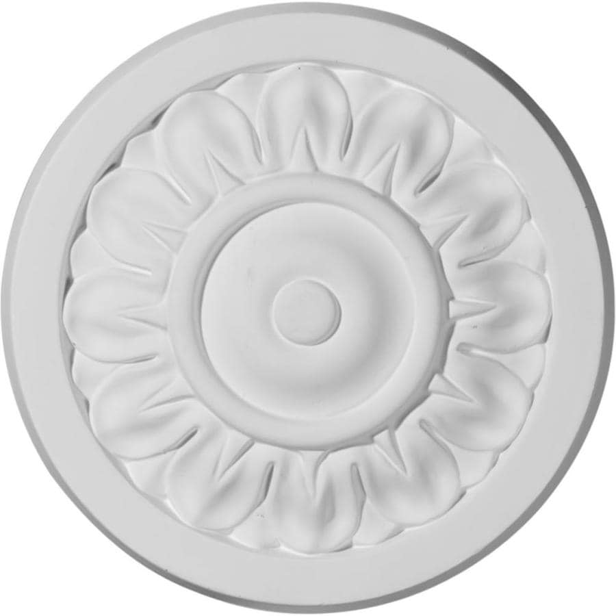 Ekena Millwork Ashley 6.25-in x 6.25-in Round Primed Polyurethane Rosette