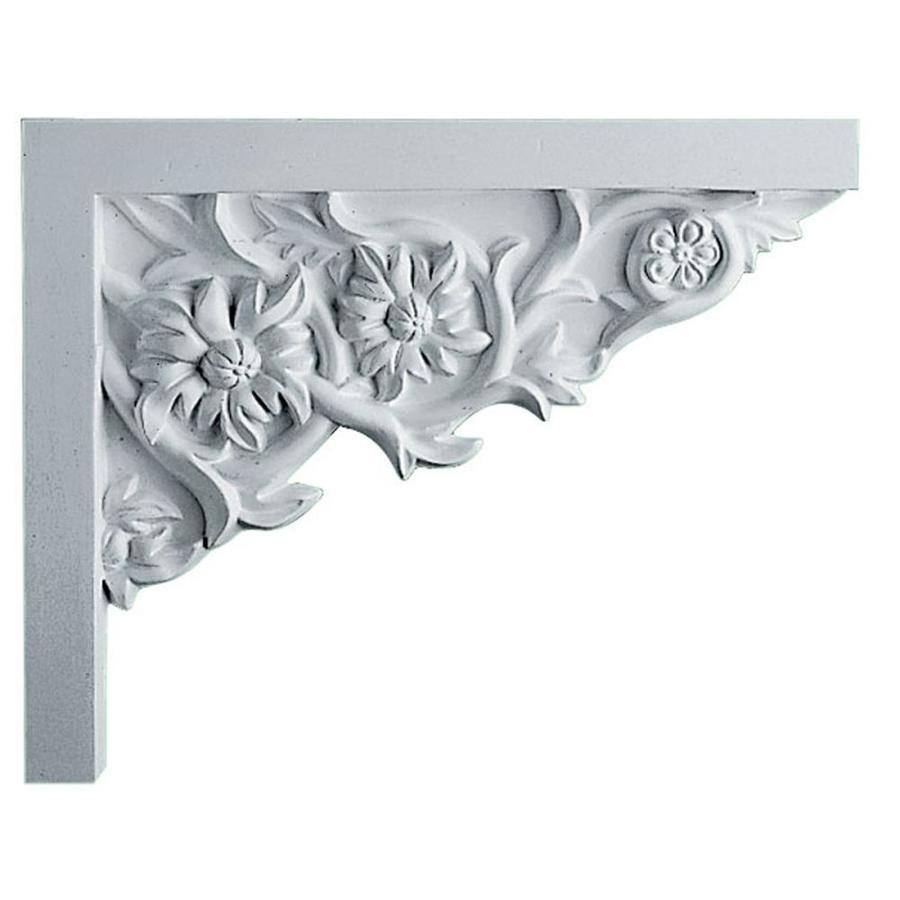 Ekena Millwork 9-in x 7.25-in Floral Urethane Applique