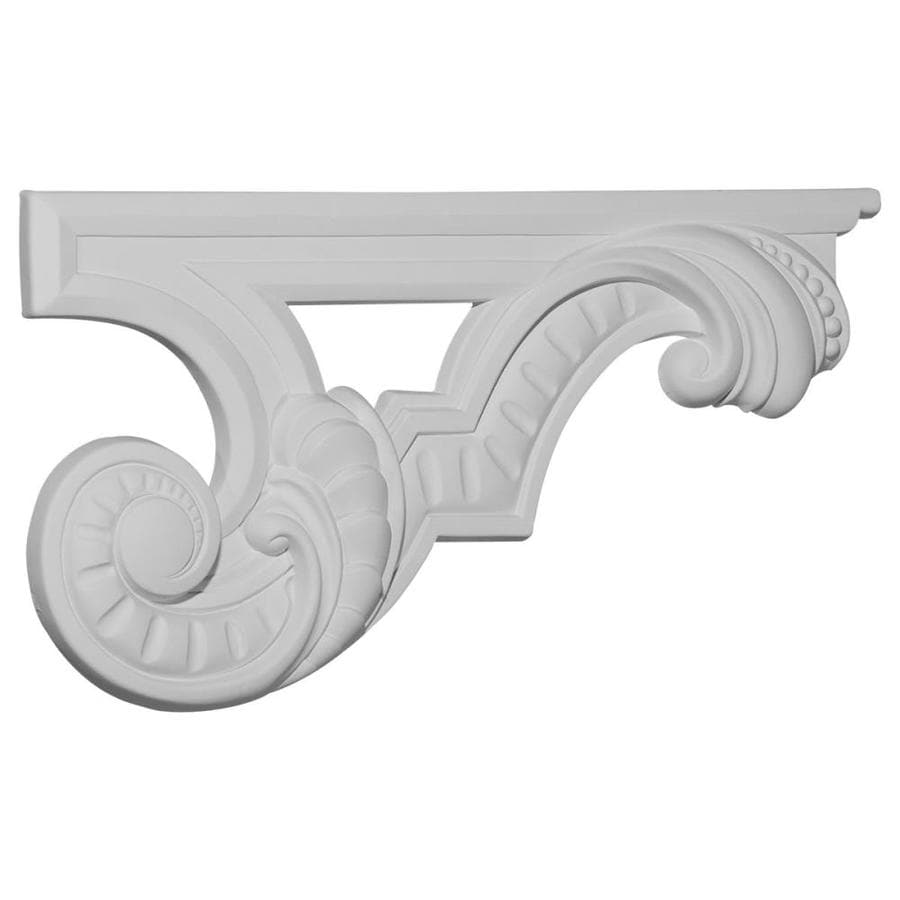 Ekena Millwork 12.375-in x 6.625-in Scroll Urethane Applique