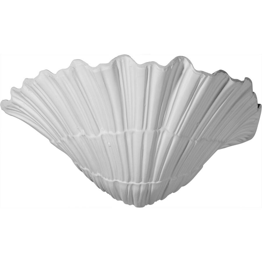 Ekena Millwork Shell 11.375-in x 6.625-in Polyurethane Sconce