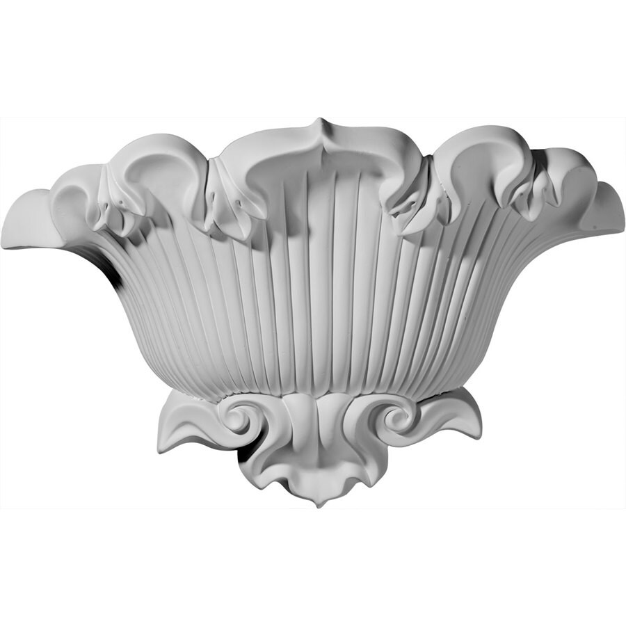 Ekena Millwork Shell 15-in x 9.625-in Polyurethane Sconce