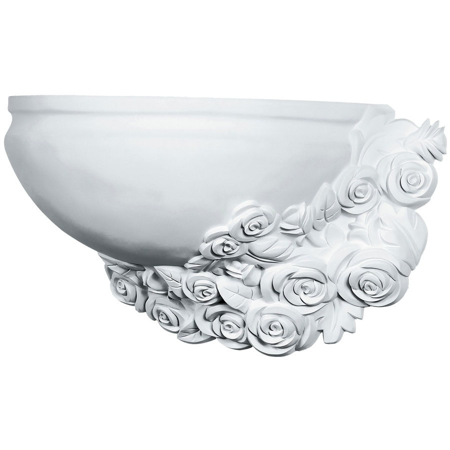 Ekena Millwork Rose Right 17.75-in x 10.25-in Polyurethane Sconce