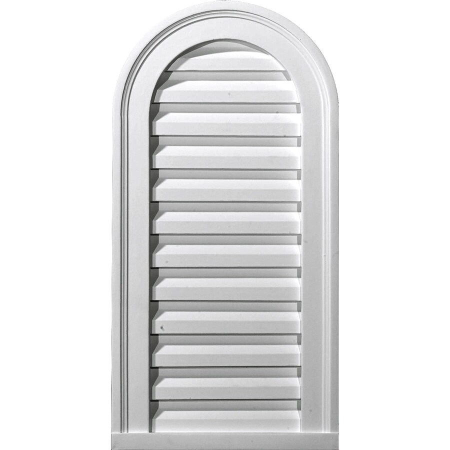Ekena Millwork 14-in x 32-in White Round Top Urethane Gable Vent