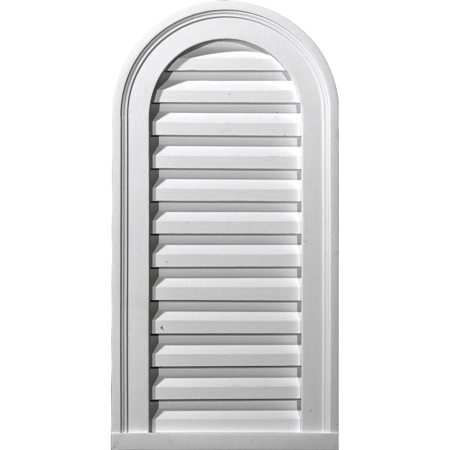 Ekena Millwork 14-in x 34-in White Round Top Urethane Gable Vent