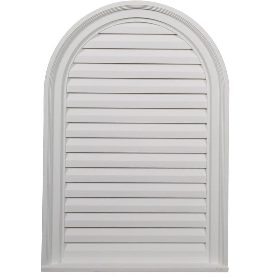 Shop Ekena Millwork 22 In X 32 In White Round Top Urethane