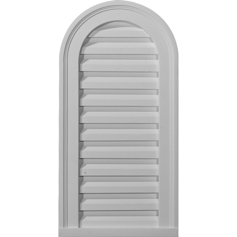 Ekena Millwork 22-in x 32-in White Round Top Urethane Gable Vent