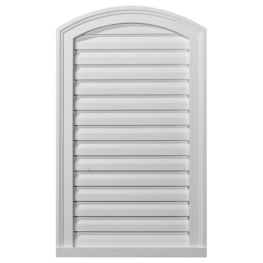 Ekena Millwork 18-in x 30-in White Round Top Urethane Gable Vent