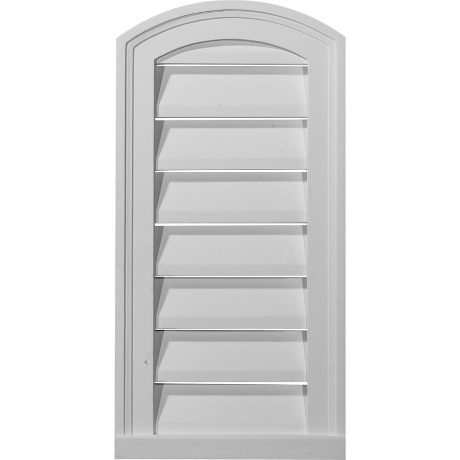Ekena Millwork 16-in x 28-in White Round Top Urethane Gable Vent