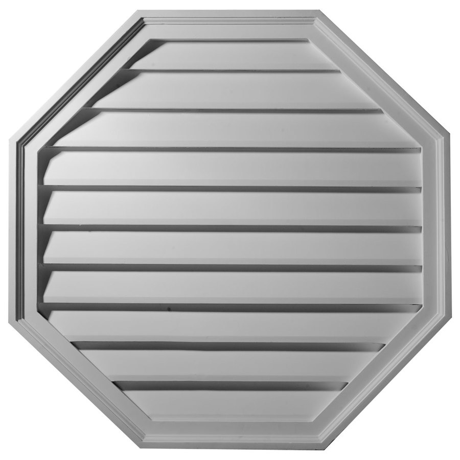 Ekena Millwork 18-in x 18-in White Octagon Urethane Gable Vent