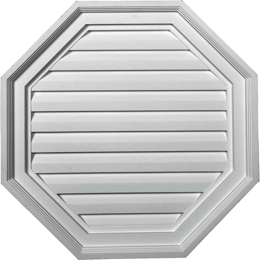Shop ekena millwork 22 in x 22 in white octagon urethane for Gable decorations home depot