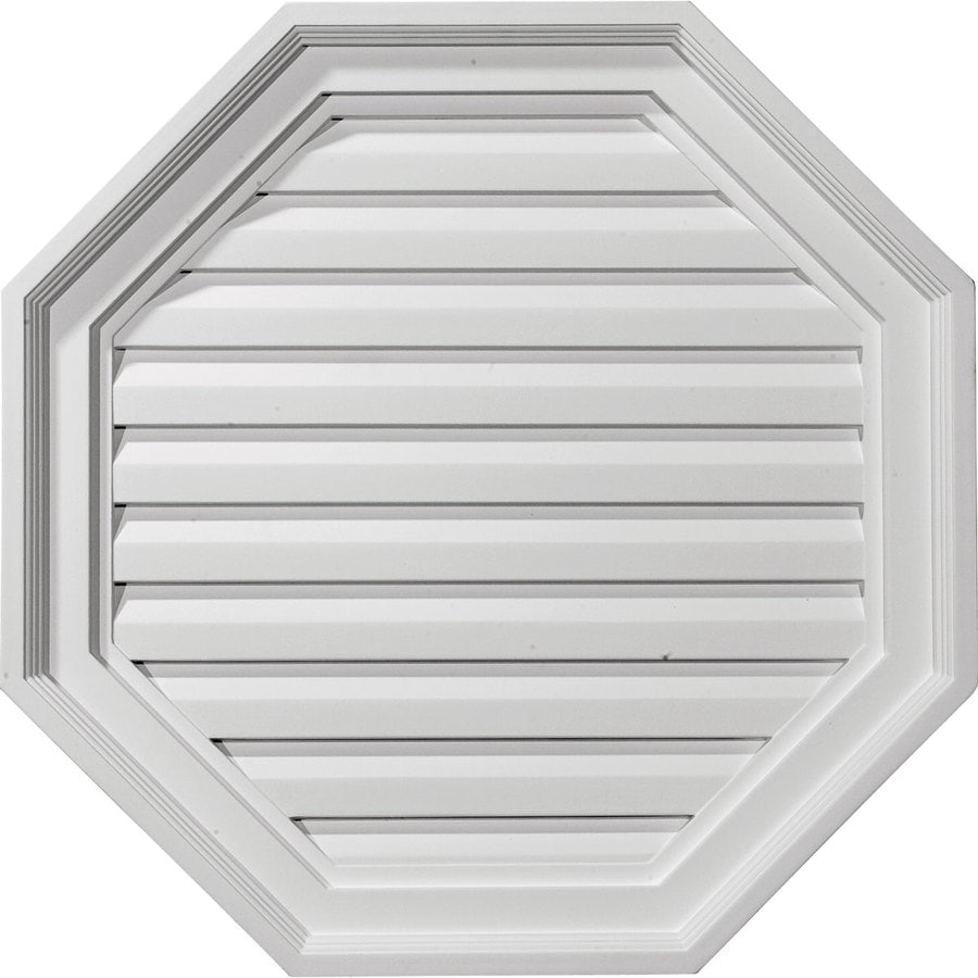 Ekena Millwork 22-in x 22-in White Octagon Urethane Gable Vent