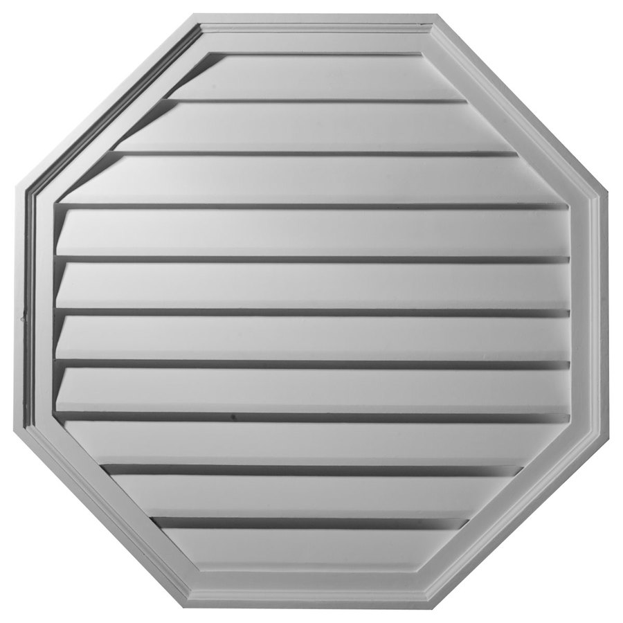 Ekena Millwork 28-in x 28-in White Octagon Urethane Gable Vent