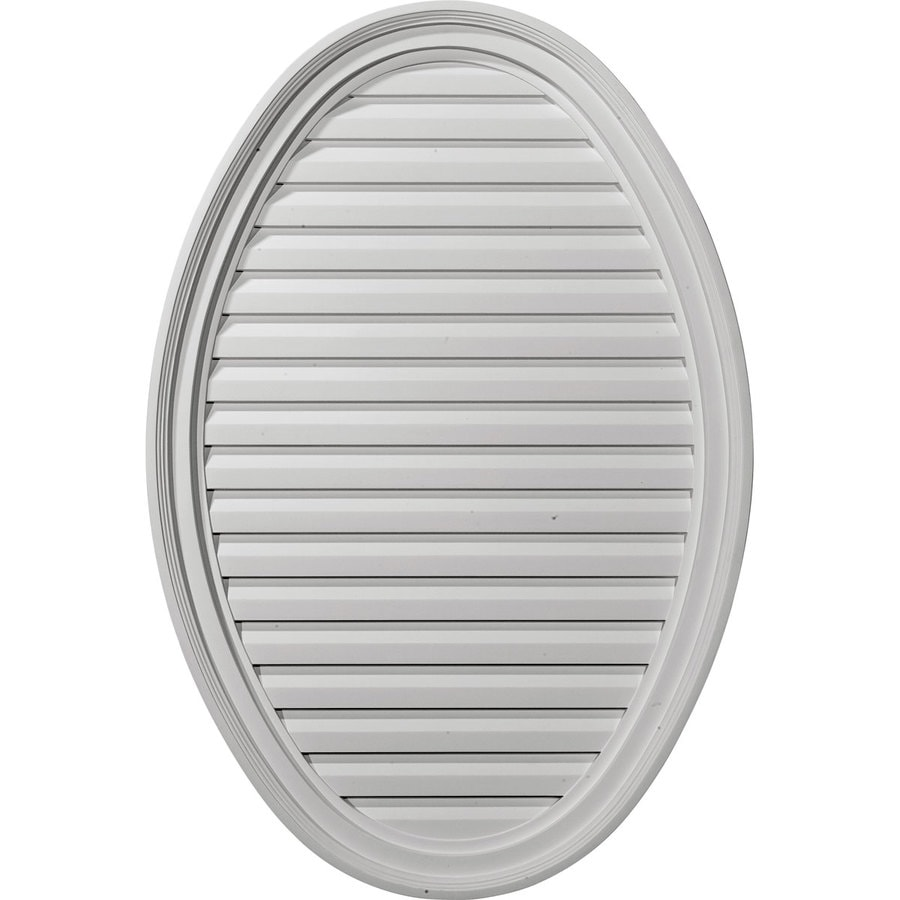 Ekena Millwork 25-in x 37-in White Oval Urethane Gable Vent