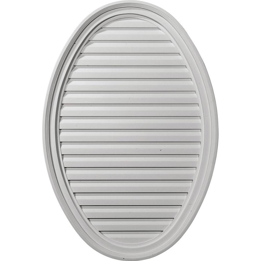 Ekena Millwork 23-in x 35-in White Oval Urethane Gable Vent
