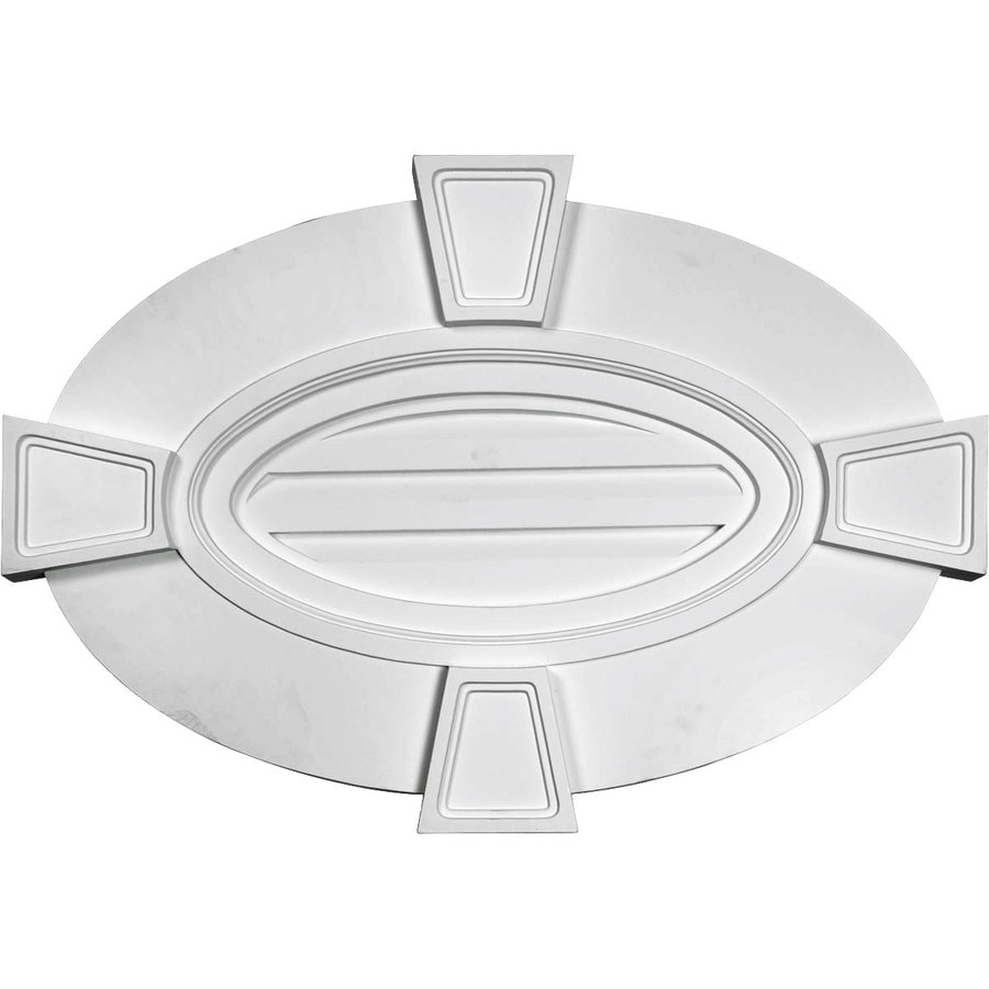 Ekena Millwork 29-in x 20-in White Oval Urethane Gable Vent