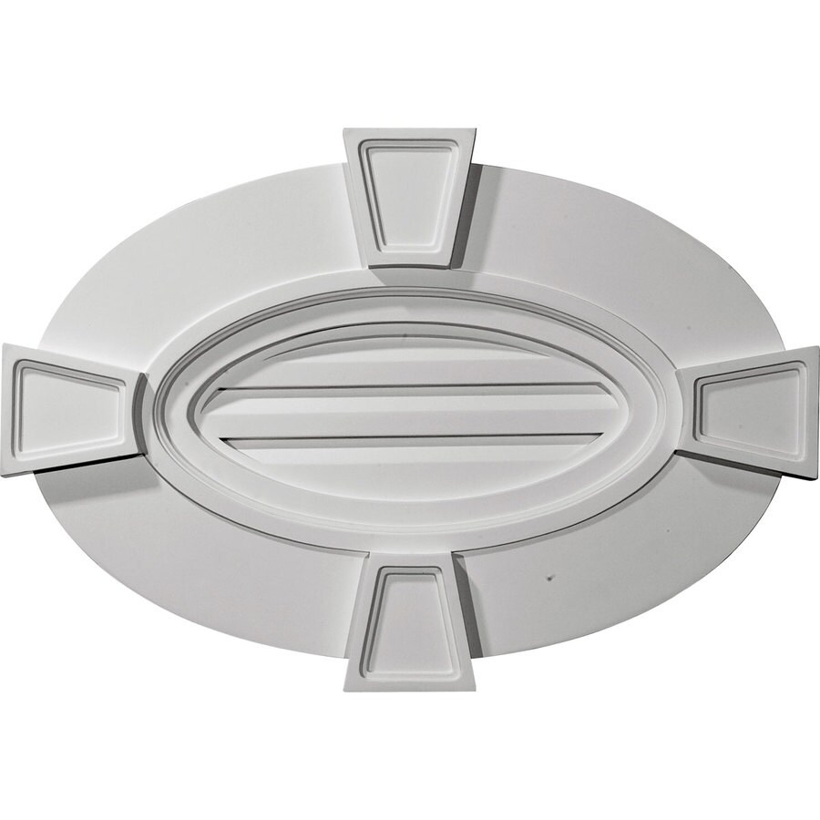 Ekena Millwork 27-in x 18-in White Oval Urethane Gable Vent