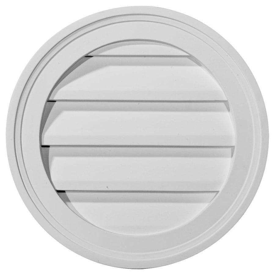 Ekena Millwork 10-in x 10-in White Round Urethane Gable Vent