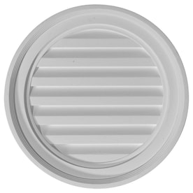 Builders Edge 18 In X 18 In Paintable Round Vinyl Gable Vent In The Gable Vents Department At Lowes Com