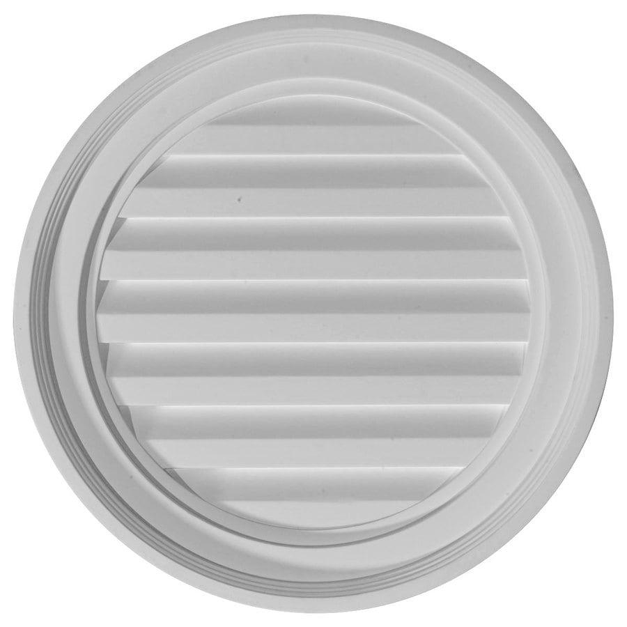 Ekena Millwork 18-in x 18-in White Round Urethane Gable Vent