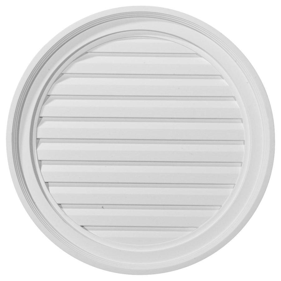 Ekena Millwork 22-in x 22-in White Round Urethane Gable Vent