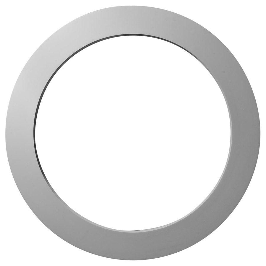 Ekena Millwork 24.125-in x 24.125-in White Round Urethane Gable Vent