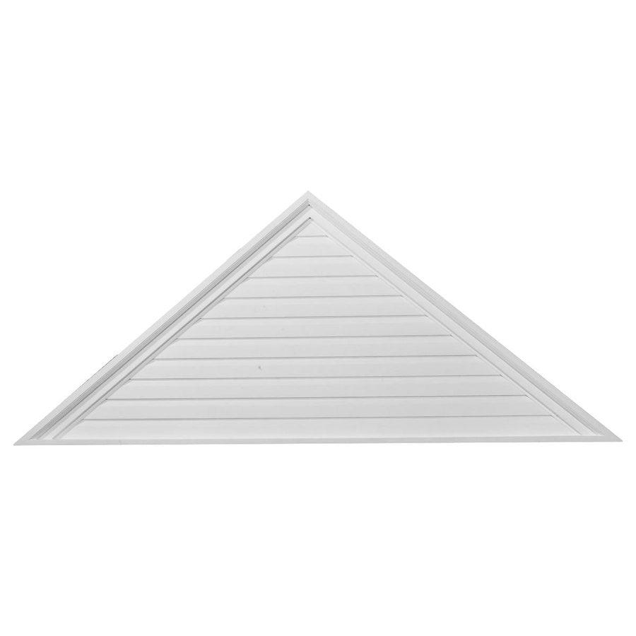 Ekena Millwork 46-in x 18-in White Triangle Urethane Gable Vent