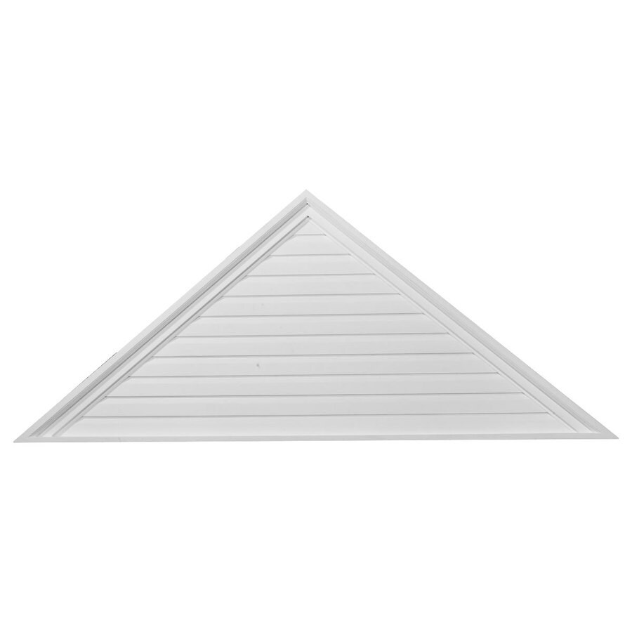 Ekena Millwork 63-in x 25-in White Triangle Urethane Gable Vent
