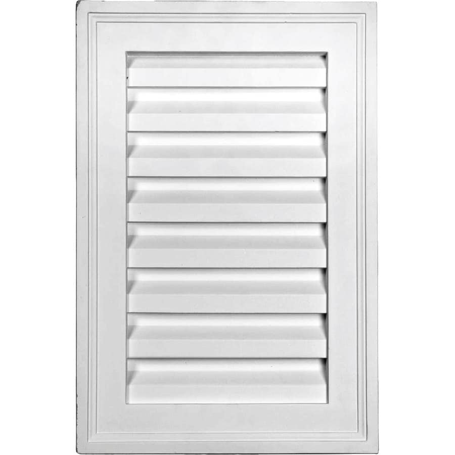 Ekena Millwork 12-in x 18-in White Rectangle Urethane Gable Vent