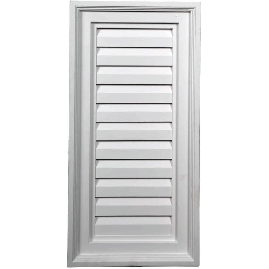 Ekena Millwork 12-in x 24-in White Rectangle Urethane Gable Vent