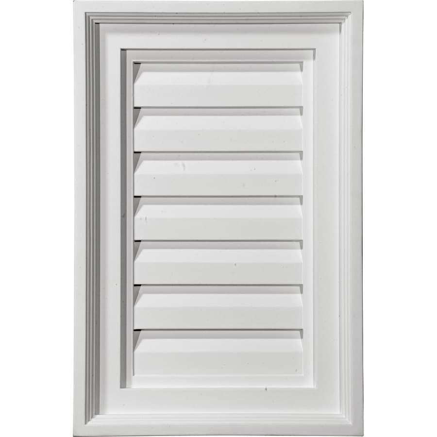 Ekena Millwork 13-in x 28-in White Rectangle Urethane Gable Vent