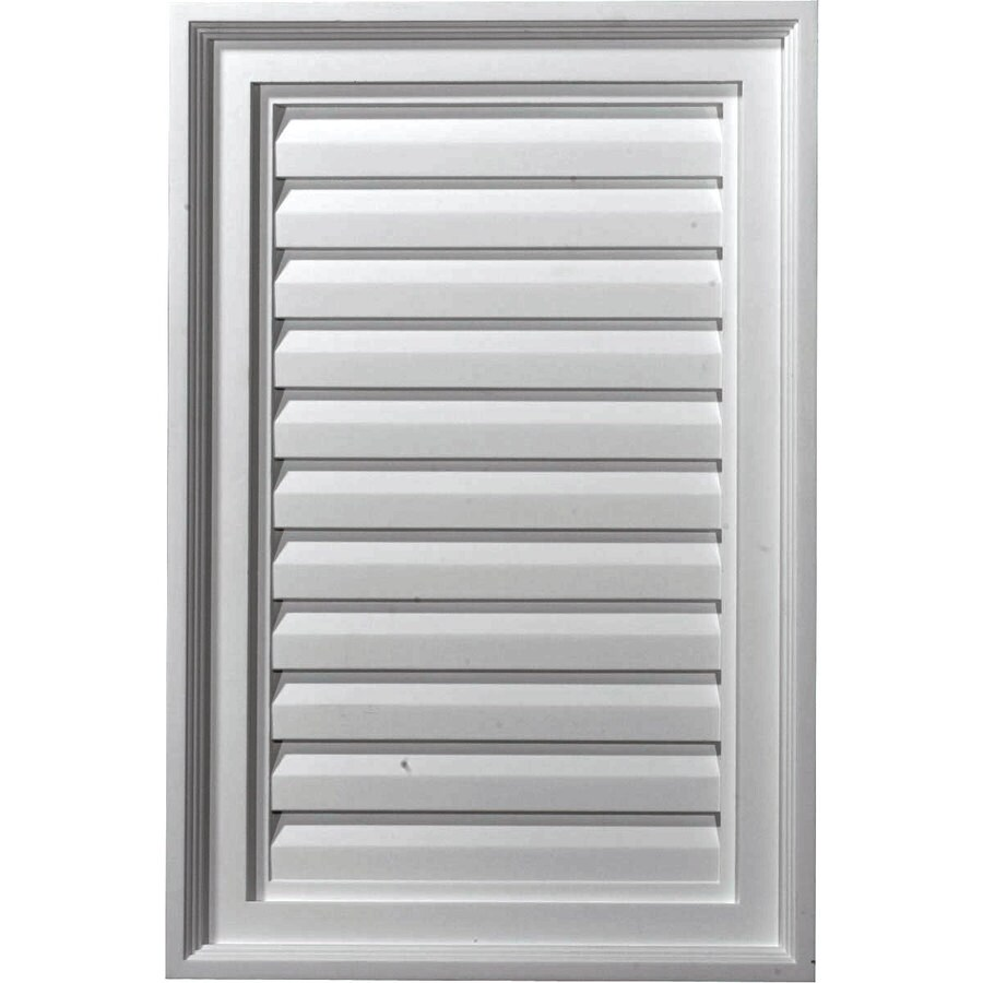 Ekena Millwork 16-in x 24-in White Rectangle Urethane Gable Vent