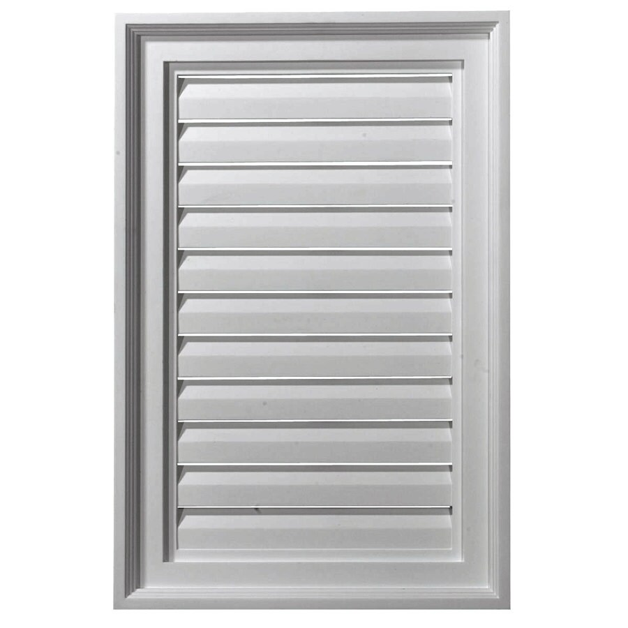 Ekena Millwork 14-in x 22-in White Rectangle Urethane Gable Vent