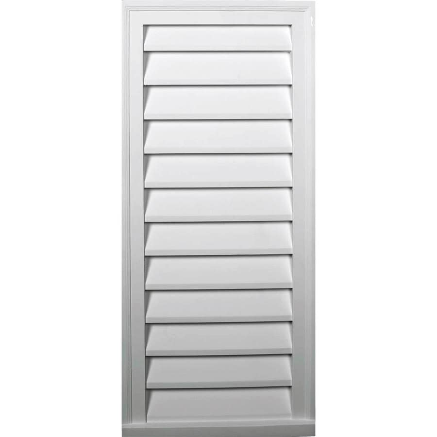 Ekena Millwork 14-in x 34-in White Rectangle Urethane Gable Vent
