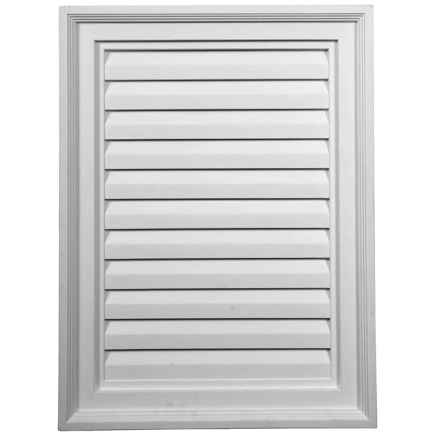 Ekena Millwork 18-in x 24-in White Rectangle Urethane Gable Vent