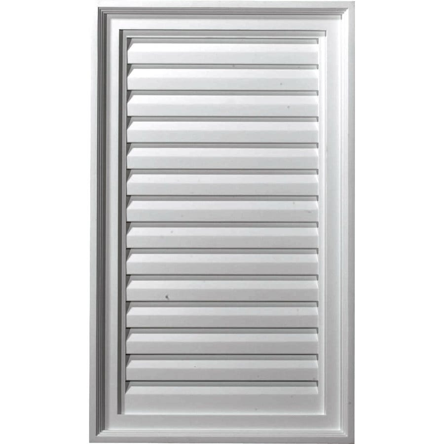 Ekena Millwork 16-in x 28-in White Rectangle Urethane Gable Vent