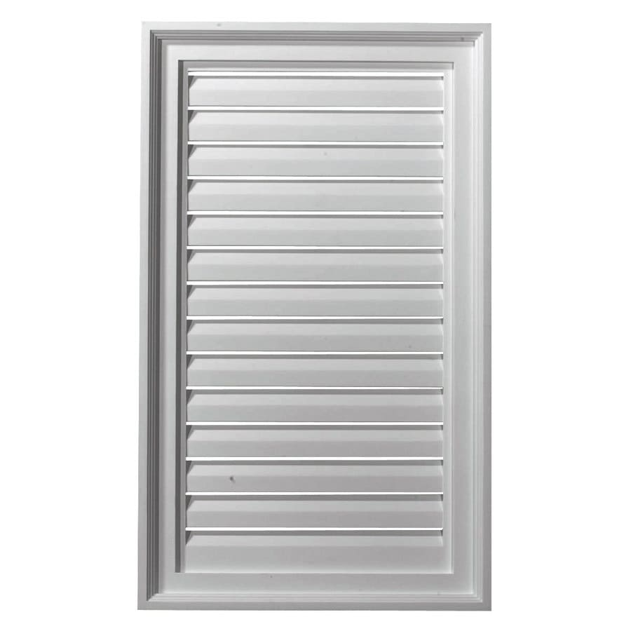Ekena Millwork 18-in x 30-in White Rectangle Urethane Gable Vent