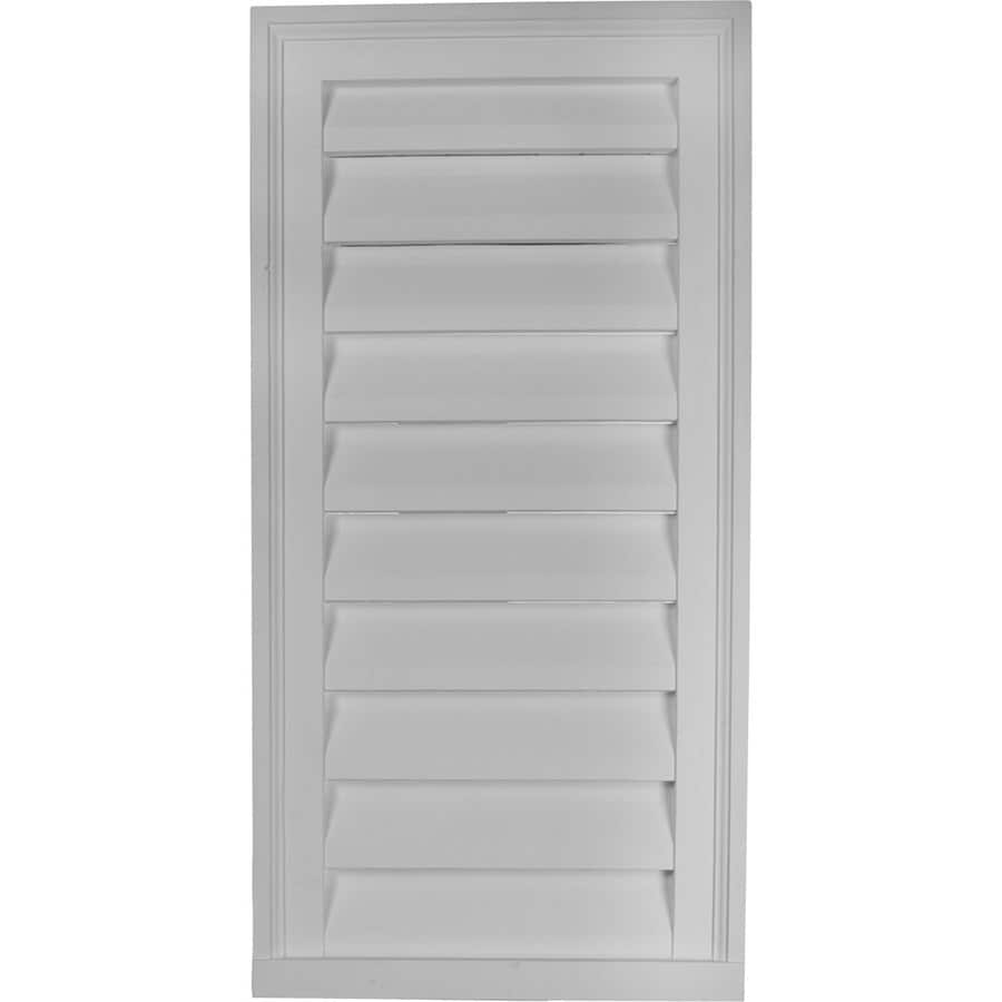 Ekena Millwork 16-in x 34-in White Rectangle Urethane Gable Vent