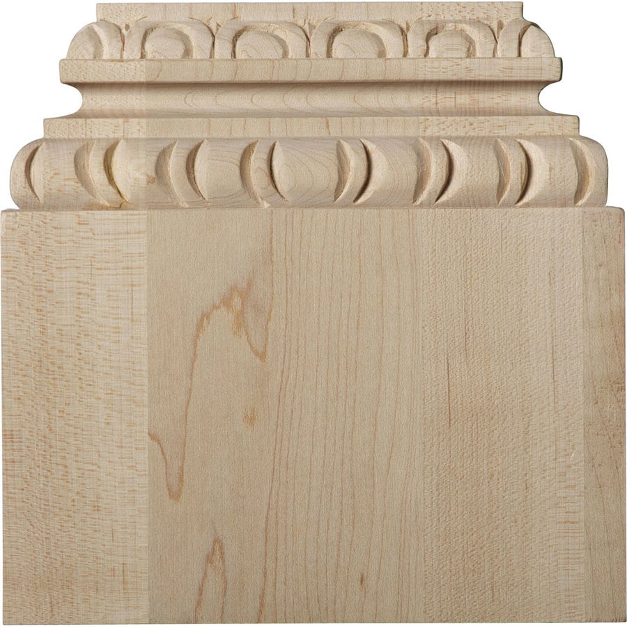 Ekena Millwork Chesterfield 5.875-in x 6-in Wood Plinth