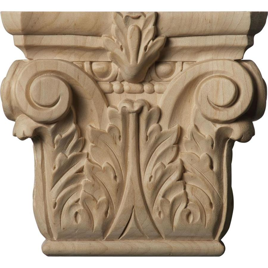 Ekena Millwork Corinthian 6.25-in x 0.47-ft Cherry Wood Capital Entry Door Casing Accent