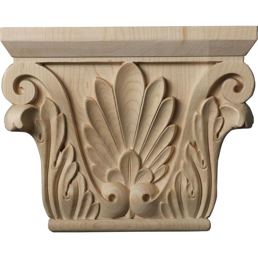 Ekena Millwork Chesterfield 9.5-in x 0.64-ft Alder Wood Capital Entry Door Casing Accent