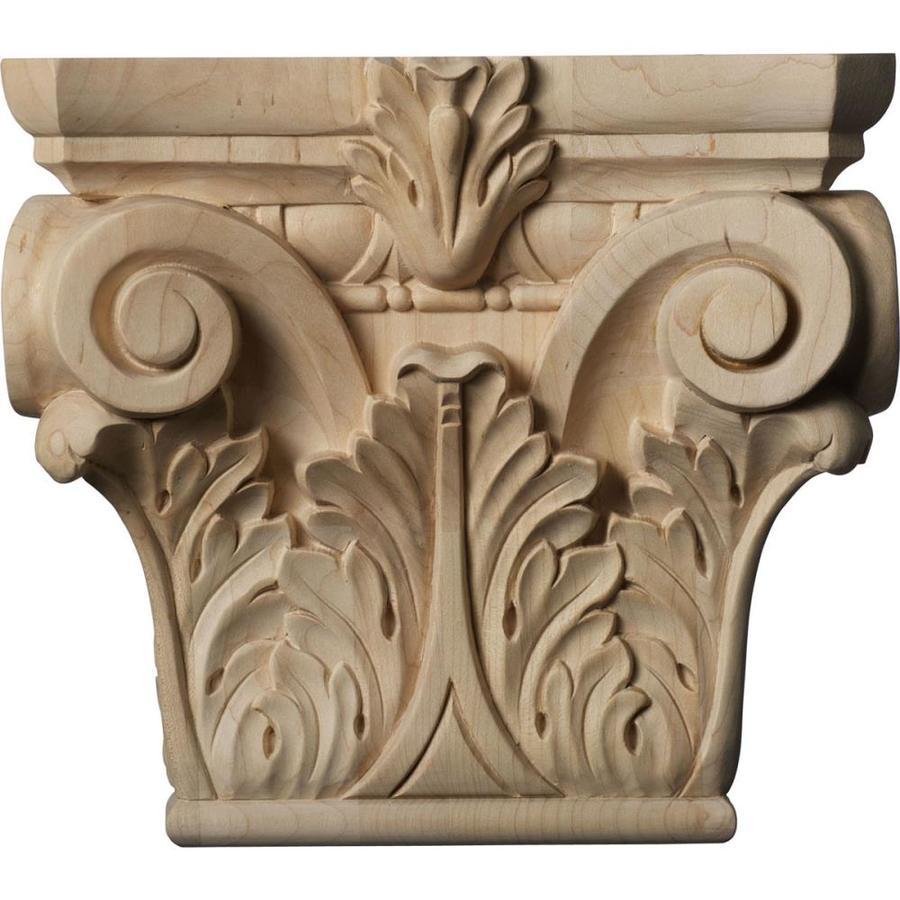 Ekena Millwork Corinthian 9.5-in x 0.7-ft Alder Wood Capital Entry Door Casing Accent