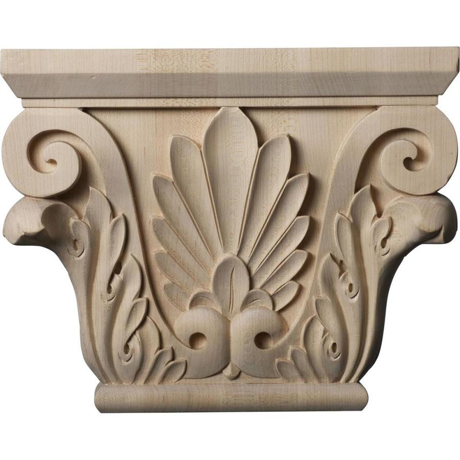 Ekena Millwork Chesterfield 11-in x 0.74-ft Cherry Wood Capital Entry Door Casing Accent