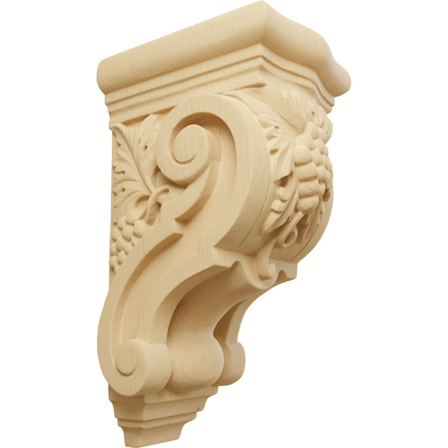 Ekena Millwork 3.5-in x 7.875-in Grape Bunches Alder Corbel