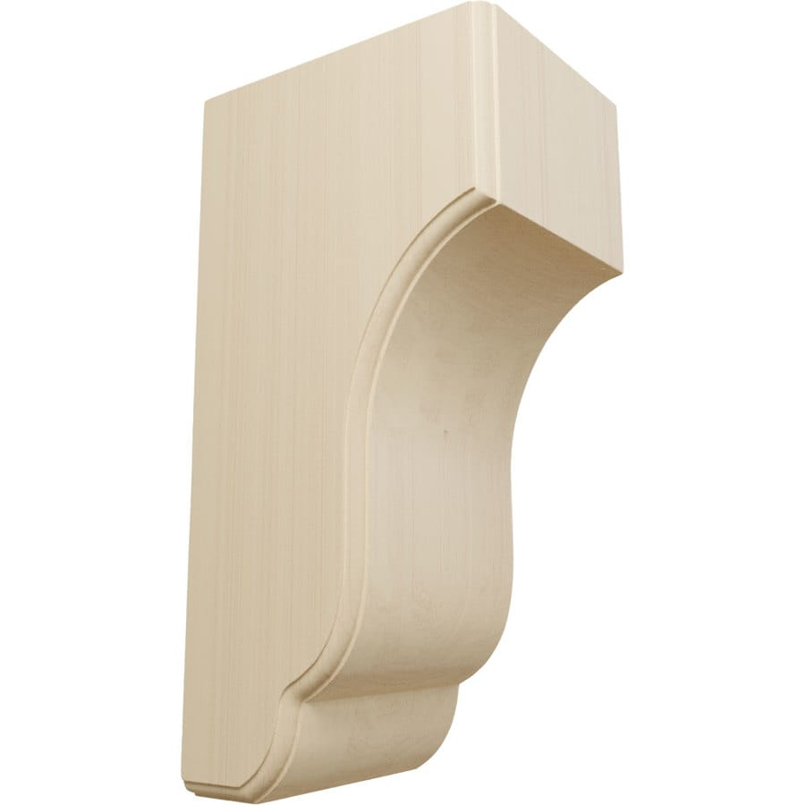 Ekena Millwork 5.75-in x 14-in Rubberwood Capistrano Mission Wood Corbel